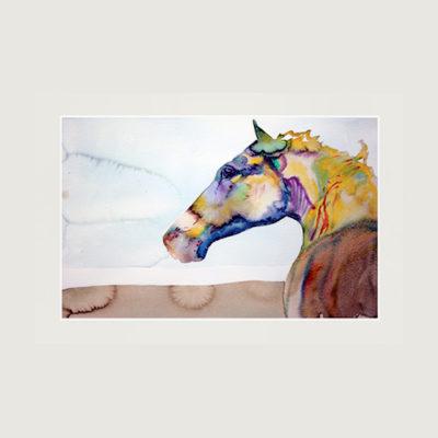 Tavla med häst i flera färger