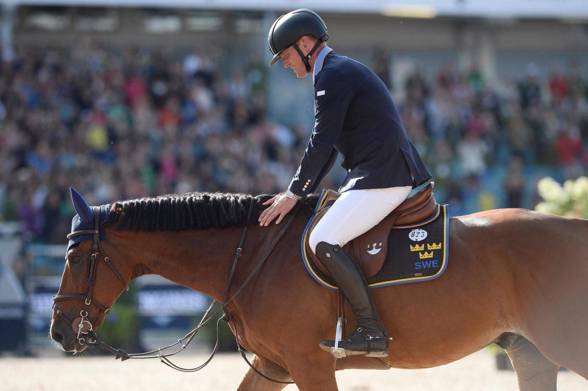 Ryttare och häst på EM