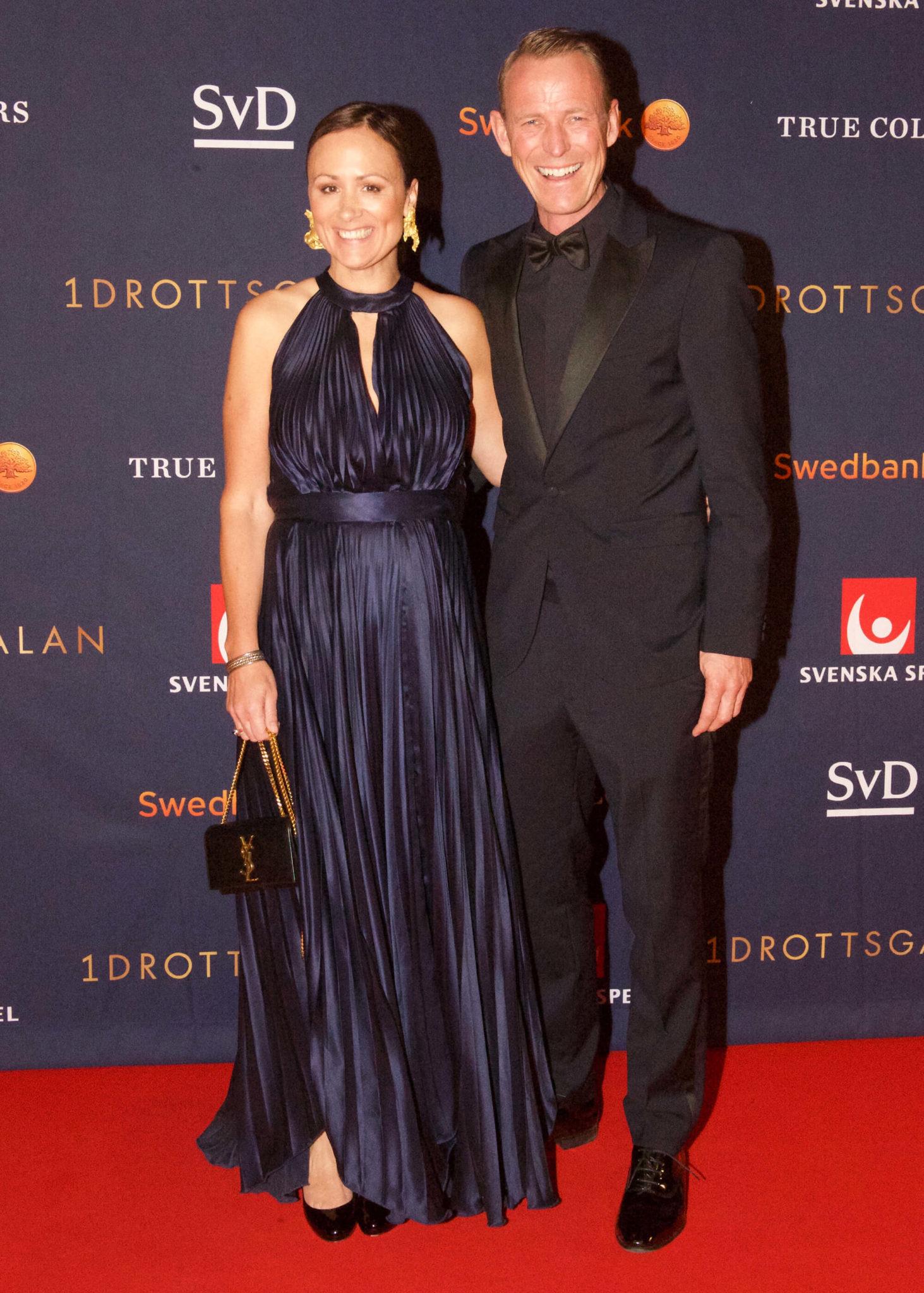 Peder och Lisen på röda mattan på Idrottsgalan